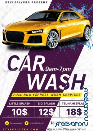 Сar Wash V29 PSD Flyer Template