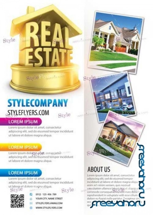 Real Estate V17 PSD Flyer Template
