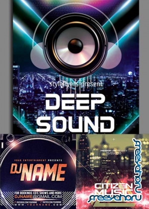 Deep Sound Party 3in1 V1 Flyer Template