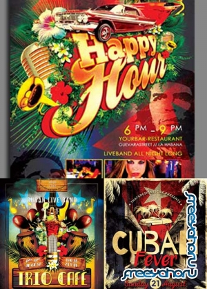 Cuban 3in1 V1 Flyer Template