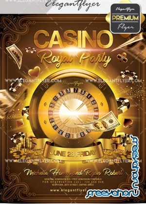 Casino Royal Party V16 Flyer PSD Template + Facebook Cover