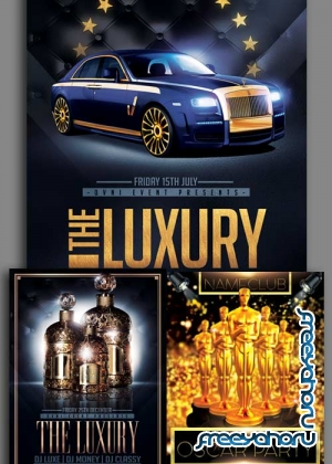 The Luxury Party 3in1 V1 Flyer Template