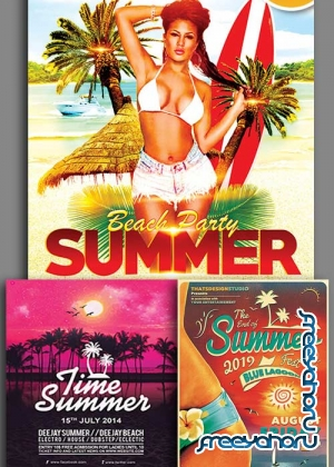 Time Summer 3in1 V3 Flyer Template