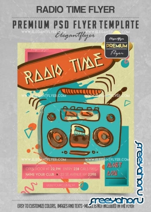 Radio Time Flyer PSD V12 Template + Facebook Cover