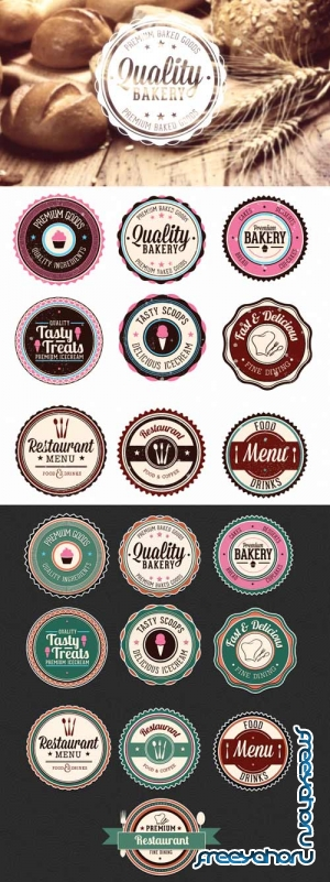 Superpremium badges bundle - Food set 1