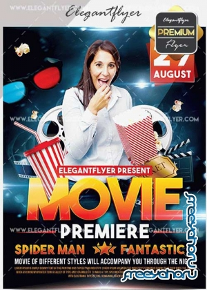 Movie Premiere V5 Flyer PSD Template + Facebook Cover