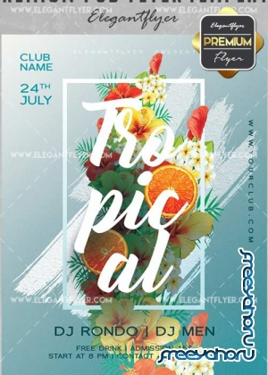 Tropical V20 Flyer PSD Template + Facebook Cover