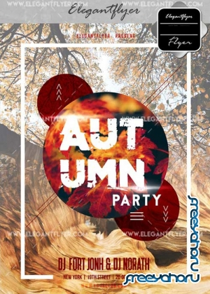 Autumn Party V18 Flyer PSD Template + Facebook Cover