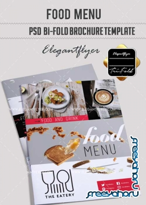 Food menu V17 Restaurant Brochure Template in PSD