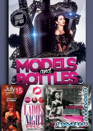 Ladies Night 3in1 V15 Flyer Template