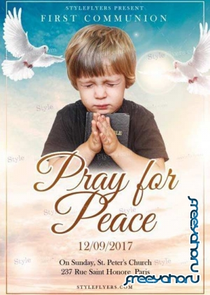 Pray For Peace V1 PSD Flyer Template