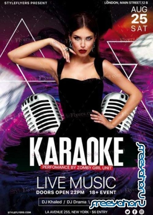Karaoke Night V30 PSD Flyer Template