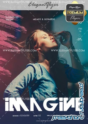 Imagine V2 Flyer PSD Template + Facebook Cover