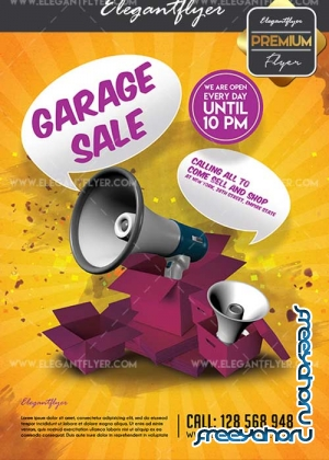 Garage Sale V4 Flyer PSD Template + Facebook Cover