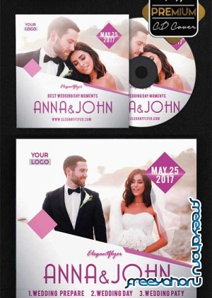Wedding Day V23 Premium CD Cover PSD Template