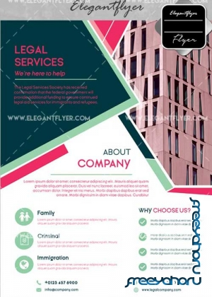 Legal Service V17 Flyer PSD Template + Facebook Cover