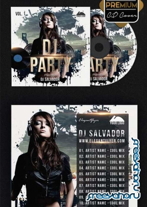 DJ Party V33 Premium CD Cover PSD Template