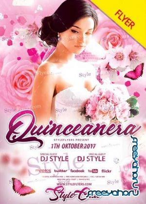 Quinceanera V24 PSD Flyer Template