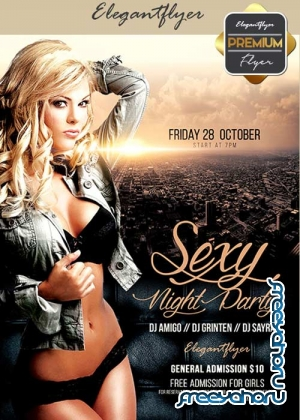 Sexy Night Party V19 Flyer PSD Template + Facebook Cover