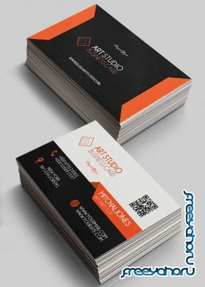 Art Studio V1 Premium Business Card Templates PSD