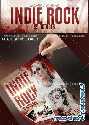Indie Rock V17 Flyer Templates