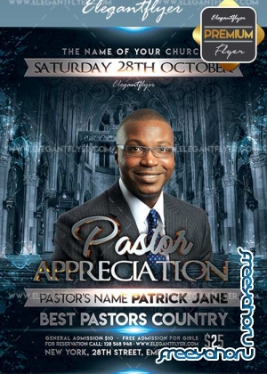 Pastor Appreciation V28 Flyer PSD Template + Facebook Cover