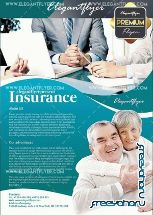 Insurance V3 Flyer PSD Template + Facebook Cover