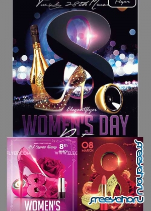 Women's Day Party 3in1 V1 2018 Flyer Template
