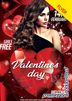 Valentine's Day V11 2018 PSD Flyer Template