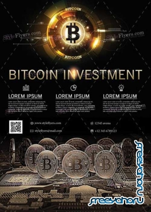 Bitcoin Investment V1 2018 PSD Flyer Template