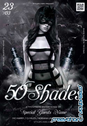 50 Shades V1 PSD Flyer Template