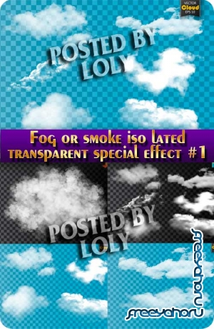 Fog or smoke iso lated transparent special effect #1 - Stock Vector