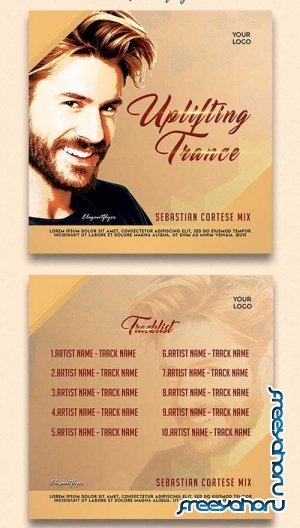 Uplifting Trance V1 CD Cover PSD Template