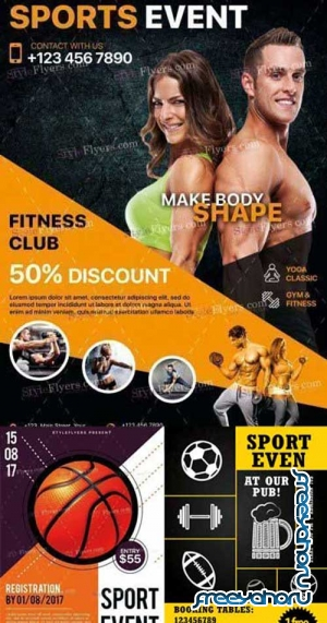 Sport 3in1 V7 Flyer Template