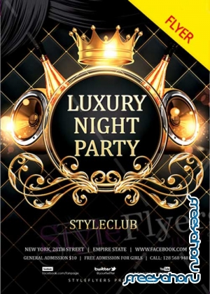 Luxury Night Party V3 2018 PSD Flyer Template