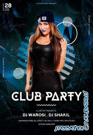 Club Party V5 2018 PSD Flyer Template