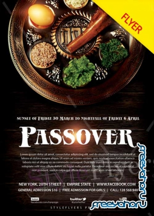 Passover V1 2018 PSD Flyer Template