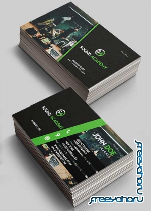 Sound Academy V1 2018 Premium Business Card Templates PSD