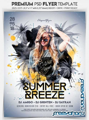 Summer Breeze V1 2018 Flyer PSD Template + Facebook Cover