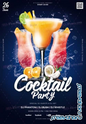 Cocktail Night V3 2018 PSD Flyer Template