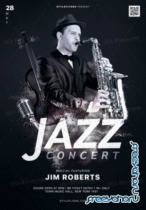 Jazz Concert V2 2018 PSD Flyer Template
