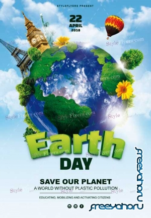 Earth Day V7 2018 PSD Flyer Template