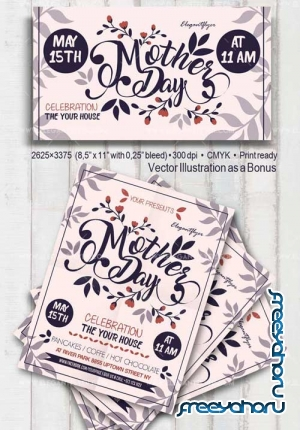 Mother Day V11 2018 Flyer PSD Template
