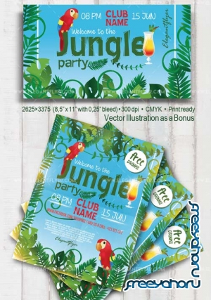 Jungle Party V2 2018 Flyer PSD Template