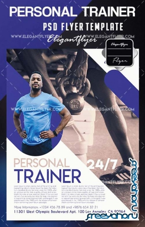 Personal Trainer V1 2018 Flyer PSD Template