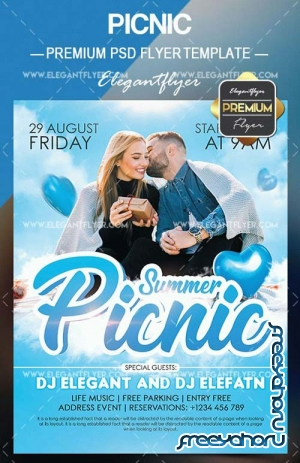 Picnic V5 2018 Flyer PSD Template