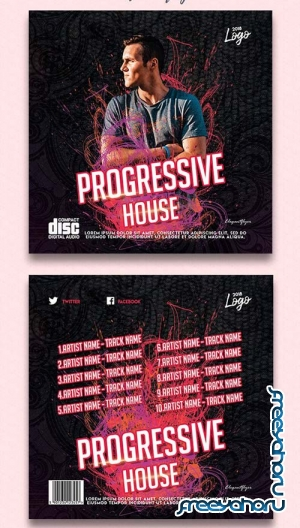 Progressive House V3 2018 CD Cover Template
