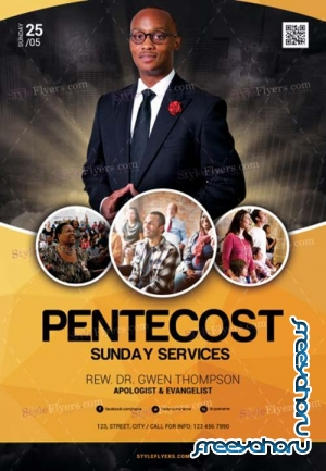 Pentecost Church V5 2018 PSD Flyer Template