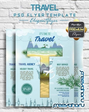 Travel V11 2018 Flyer PSD Template + Facebook Cover