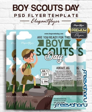 Boy Scouts Day V1 2018 Flyer PSD Template